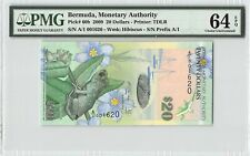 Bermuda 2009 P-60b PMG Choice UNC 64 EPQ 20 Dollars