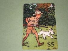 tintin chasse avec milou carte téléphonique  (phone card)OBJET Bd