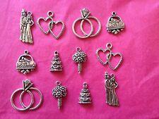 Tibetan Silver mariage thème Mixte Charms #2 - 12 Per Pack