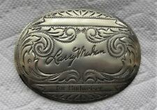 Larry Mahan, Cowboy Rodeo Champion For Budweiser, Nickel Silver BELT BUCKLE