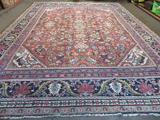 11' X 14' Antique Hand Made PERSIAN MAHAL Oushak Sultanabad Wool Rug Carpet Nice