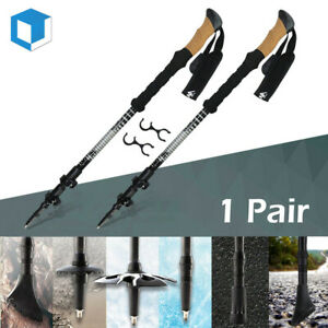 Carbon Fiber / Alloy Trekking Poles Ultralight Collapsible Walking Hiking Sticks