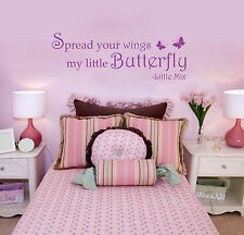 LITTLE MIX LYRICS SPREAD YOUR WINGS MY LITTLE BUTTERFLY - WALL STICKER - VINYL