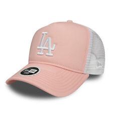 quality design ad414 6d9e3 New Era MLB Womens League Essential Trucker LA Dodgers Cap Pink Lemonade  OSFA