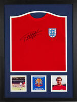 GEOFF HURST FRAMED SIGNED 1966 FIFA WORLD CUP ENGLAND FOOTBALL SHIRT PROOF & COA