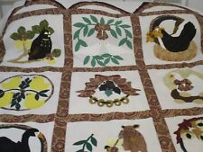 """quilt top 12 days of christmas applique 70""""x86"""" machine & hand stitched handmade"""