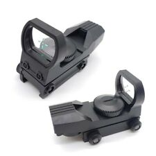 Tactical Holographic Reflex Red Green Dot Sight 4 Type Reticle for 20mm Scope