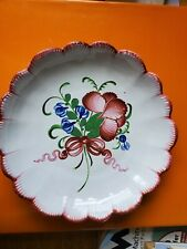 """French Faience """"Les Islettes"""" 18th Century deep plate"""