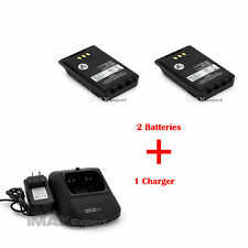2 x 2000 mAh  LI-ion BP272 271 BATTERY + Charger FOR IC-31A  ID-31E  IC-51A 51E