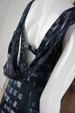 VM Vera Mont * Reines Seidenkleid * Raffinierter Rücken * Dekoband * Blau *Gr 34