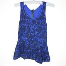 Anthropologie Meadow Rue Women's Sleeveless Top Size XS Tank Lace Crochet