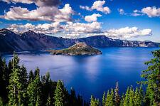 Crater Lake, Oregon - 3D Lenticular Postcard Greeting Card