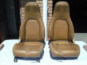 #16 Miatamecca Seat Set Tan Leather 94-97 M-Edition Miata MX5 NA8257150D OEM