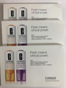 X3 Clinique Fresh Pressed Daily & Overnight Booster Vitamin C 1% + A Retinol