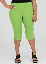 Plus Size Green Shorts / Cropped Pants Elastic Waist  -Knee Length Size 22
