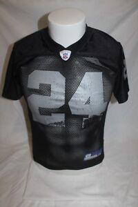 Oakland Raiders Charles Woodson NFL Reebok Youth Black Jersey Size Medium 10-12