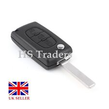 3 BUTTON FLIP KEY FOB CASE FOR CITROEN C4 C5 C6 C8  *no battery holder* + LOGO