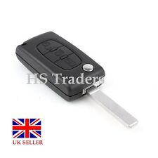 3 BUTTON FLIP REMOTE KEY FOB CASE FOR PEUGEOT  *no battery holder* A50