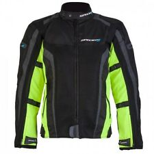 SPADA CORSA GP AIR WATERPROOF MOTORCYCLE jacket SPORTS SUMMER MESH BLACK FLUO
