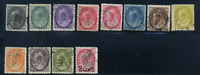 Canada #74-84,88 used F+/VF 1898-1902 Queen Victoria Numeral Set CDS Fancy Cork