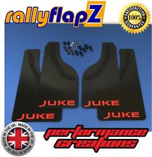 rallyflapZ NISSAN JUKE Pre Facelift Mudflaps & Fixings Black Logo Red 4mm PVC