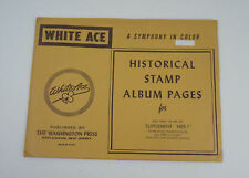 """New White Ace Stamp Album Pages 1969 Mail Early in the Day Supplement """"MEB-1"""""""