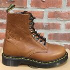 DR. MARTENS 1460 TAN BRUN CLAIR ZIPPED NATURESSE LEATHER BOOTS SIZE UK 8