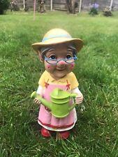 Cute Grandma Gnome Miniature Novelty Gnome Garden Ornament Home Patio Statue