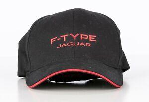 F-Type Jaguar Baseball Cap Hat - Black with Red Writing - Size  S - M - Flexfit