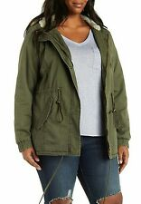 NWT Charlotte Russe Plus Anorak Jacket 2X Olive