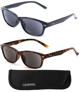 Tinted Reading Sunglasses With Case Retro Spring Hinges Mens Womens Sun Readers