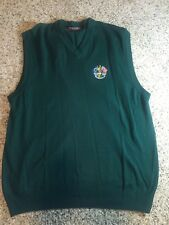 OSCAR JACOBSON MENS SWEATER VEST RYDER CUP 2001 SIZE XL GREEN WOOL Kd6