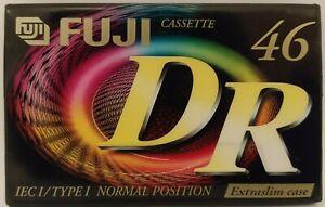 Fuji DR46 - C46 Ferric - 46 Min Vinyl transfer / Blank Audio Cassette Tape - NEW