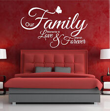 Wall Quotes OUR FAMILY MOMENTS TO LOVE Wall Stickers Art Decal Wall Decor  V61