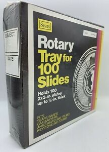 "NEW VINTAGE Sears Rotary Tray Holds 100 2""x2"" Slides Up To 1/8"" FACTORY SEALED"