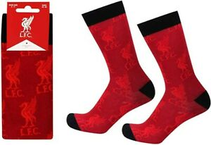 Official Liverpool FC Mens Socks Crested (Size 8-11) -Red