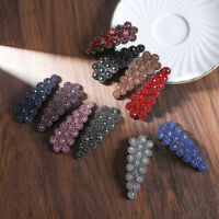 Women Girls Crystal Hair Clip Pin Hairpin Slide Grip Barrettes Snap Accessories