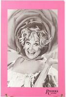 Phyllis Diller on the Cover: Riviera Las Vegas Casino Hotel Vintage Drink Menu