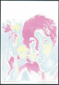 ORIGINAL AUTHENTIC BEATLES POSTER PAUL MCCARTNEY BY RICHARD AVEDON DONE IN 1967
