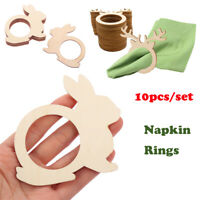 Birthday Party Rustic Napkin Ring Table Decoration Happy Easter Laser Cut Wood_
