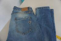 PLEASE Damen Jeans slim fit super stretch 7/8 Hose Gr.M W28 L32 used blau #15