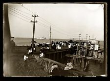 Steamer Gay Head Dock Cottage City Martha's Vineyard MA 1890s Glass Negative 5x7