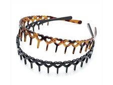 Tort Brown and Black Heart Headband Hair Band Bandeaus with Teeth