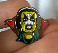 King Diamond Mercyful Fate soft enamel pin Heavy Metal retro