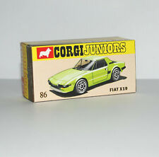 DISPLAY BOX FOR CORGI JUNIORS 86. FIAT X19 LIME GREEN -  FREE UK POST