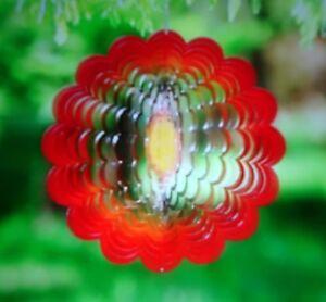 "TROPICAL PARADISE 3-D Spectrum Spinner by Evergreen 12"" Yard Art New in Pkg $35"