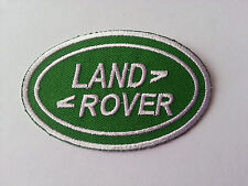 MOTORSPORTS MOTOR RACING CAR SEW / IRON ON PATCH:- LAND ROVER (b) GREEN OVAL (b)