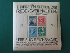 SBZ Thüringer Weihnachtsblock MiNr 2t postfrisch, Unebenheiten im Gummi (S166-N)
