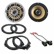 2 Polk Slim Car ATV Motorcycle Speakers & Wire Harness + Door Mounting Brackets