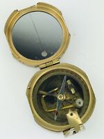 NATURAL SINE COMPASS SOLID BRASS INDIA NAUTICAL NAVIGATION GEOLOGICAL SURVEYING